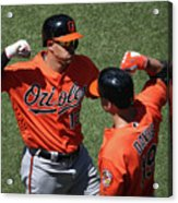 Manny Machado and Chris Davis Acrylic Print