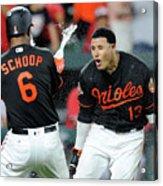 Manny Machado and Jonathan Schoop Acrylic Print