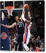 Marc Gasol and Andre Drummond Acrylic Print