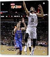 Marco Belinelli and Steven Adams Acrylic Print