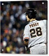 Max Scherzer and Buster Posey Acrylic Print