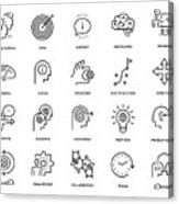 Mentoring Icon Set Acrylic Print