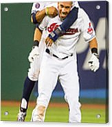 Michael Brantley and Francisco Lindor Acrylic Print