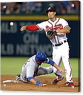 Michael Cuddyer and Jace Peterson Acrylic Print