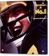 Michigan Qb Rick Leach, 1976 College Football Preview Sports Illustrated Cover Acrylic Print
