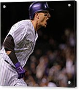 Mike Bolsinger and Troy Tulowitzki Acrylic Print