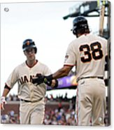 Mike Morse and Buster Posey Acrylic Print