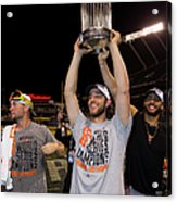 Mike Morse, Ryan Vogelsong, and Madison Bumgarner Acrylic Print