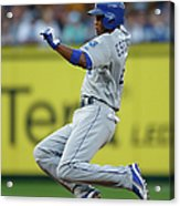 Mike Moustakas and Alcides Escobar Acrylic Print