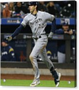 Mike Moustakas And Christian Yelich Acrylic Print