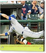 Mike Moustakas and Lonnie Chisenhall Acrylic Print