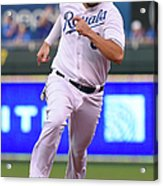 Mike Moustakas and Lorenzo Cain Acrylic Print