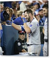Mike Moustakas, Eric Hosmer, And Ned Yost Acrylic Print