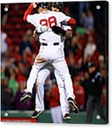 Mike Napoli and Grady Sizemore Acrylic Print