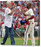 Mike Schmidt and Jimmy Rollins Acrylic Print