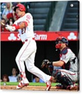Mike Trout and Chris Heisey Acrylic Print