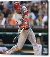 Mike Trout and Hank Conger Acrylic Print