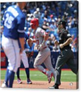Mike Trout And Marco Estrada Acrylic Print