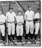 Miller Huggins and Babe Ruth Acrylic Print