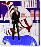 Mink DeVille - Le Chat Bleu Acrylic Print