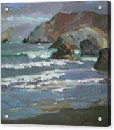 Morning Fog Shark Harbor - Catalina Island Acrylic Print