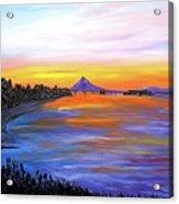Mount Hood Over Wintler Beach  #1 Acrylic Print