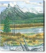 Mount Rundle Canadian Rockies Acrylic Print