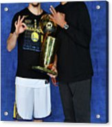 Mychal Thompson and Klay Thompson Acrylic Print
