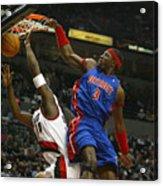 NBA Basketball 2005 - Pistons vs. Trailblazers Acrylic Print