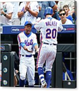 Neil Walker and Curtis Granderson Acrylic Print