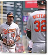 Nelson Cruz and Adam Jones Acrylic Print