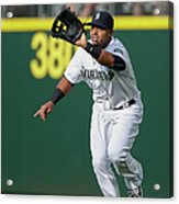 Nelson Cruz And Mark Canha Acrylic Print