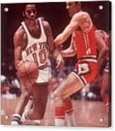 New York Knicks Walt Frazier... Sports Illustrated Cover Acrylic Print