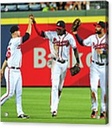 Nick Markakis and Cameron Maybin Acrylic Print