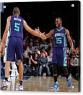 Nicolas Batum and Kemba Walker Acrylic Print