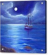 Night Seascape Acrylic Print