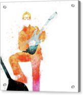 No056 MY BUDDY HOLLY Watercolor Music poster Acrylic Print