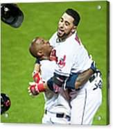 Nyjer Morgan and Mike Aviles Acrylic Print
