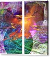 Ocean Fire Acrylic Print