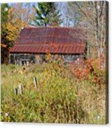 Old Barn - Campton New Hampshire Acrylic Print