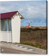 Old fashioned bus stopon the island of Texel, the Netherlands Acrylic Print