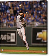 Omar Infante And Brandon Crawford Acrylic Print