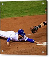 Omar Infante and Buster Posey Acrylic Print