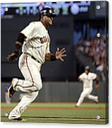 Pablo Sandoval and Brandon Crawford Acrylic Print