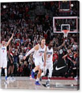 Patrick Beverley and Blake Griffin Acrylic Print