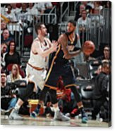 Paul George and Kevin Love Acrylic Print
