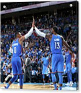 Paul George and Russell Westbrook Acrylic Print