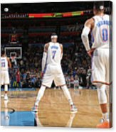 Paul George, Carmelo Anthony, and Russell Westbrook Acrylic Print