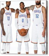 Paul George, Russell Westbrook, and Steven Adams Acrylic Print