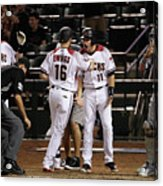 Paul Goldschmidt and Chris Owings Acrylic Print